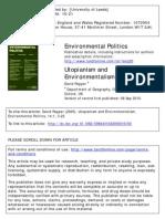 Utopianism and Environmentalism