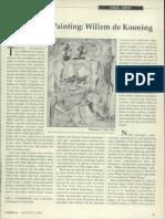Hallelujah painting Willem de Kooning