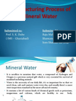 Mineral Water production
