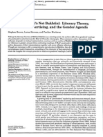 I Can't Believe It's Not Bakhtin! Literary Theory, Postmodern Advertising,...