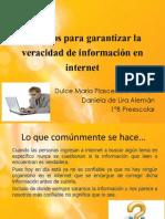 Criterios para garantizar la veracidad de información en internet