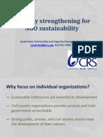 NGO Sustainability Crs