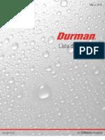 Lista de Precios Oficial Durman Marzo 2012