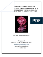 Investing in Natural Pink  Rare Argyle Diamonds