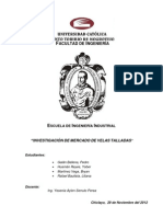 INVESTIGACIÓN DE MERCADO DE VELAS TALLADAS