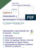 Capitulo 4 Interpolacion Aproximacion de Funciones MA 33A