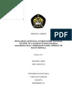 Proposal Skripsi-pengaruh Aktivitas Antiketombe Ekstrak Etanol Pandan Wangi