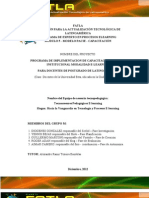 PROGRAMA DE IMPLEMENTACION DE CAPACITACION DOCENTE INSTITUCIONAL MODALIDAD E-LEARNING PARA DOCENTES DE POSTGRADO DE LATINOAMÉRICA (Caso