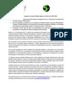 Comisión de Presupuesto y Cuenta Pública ignora a la bici en el PEF 2013