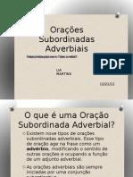 Plano de aula de gramática - Orações Subordinadas Adverbiais