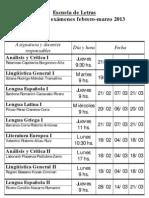 Turnos de exámenes - Febrero marzo 2013