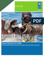 Namdrik Atoll Case Study