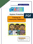 WASH Hygiene Promotion. Training for Community Mobilisers
