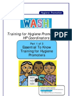 Training for Hygiene Promotors and HP Coordinators. Part 1 of 3. Essential to Know