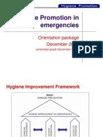 Hygiene Promotion in Emergencies