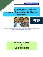 Training for Hygiene Promotion. Part 1