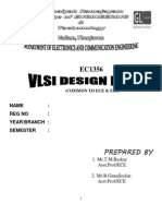EC1356-VLSI Design Lab Manual