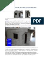 Suspended Concrete Floor Slab Formwork System