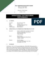 NTSB Specialist's Factual Report
