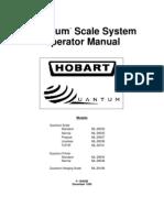 Hobart Quantum Scale Manual