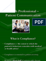 Health Professional – Patient Communication