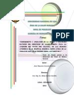 Aplicación y Cumplimiento de normas y protocolos en mujeres embarazadas de parto por cesárea Ecuador 2011