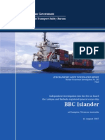 M.V BBC ISLANDER Fire Investigation Report by ATSB
