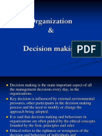 Organisation and Decision Making