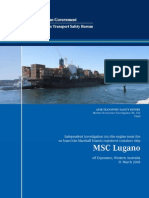 M.V MSC LUGANO Fire in E/R Investigation Report by ATSB