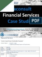 GXConsult Case Studies Financial Services