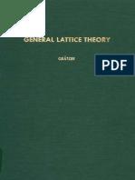 General Lattice Theory George Gratzer