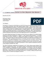 COO Urgent Open Letter to Her Majesty the Queen - Dec 20 2012