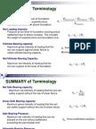 Shallow Foundations Terminology
