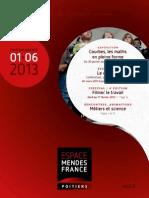 Programme de l Espace Mendes France Poitiers de Janvier a Juin 2013