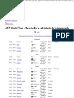 Tenis - ATP World Tour en 2013