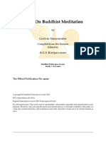 Wh448 - Talks on Buddhist Meditation - Godwin Samararatne