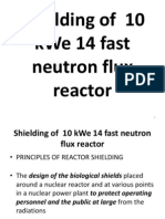 Shielding of 10 kWe 14 Fast Neutron Flux