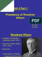 Wilson's First Term