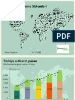 E-Ticaret ve Mobil Ödeme Sistemleri