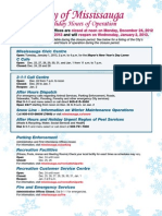 City of Mississauga Holiday Hours