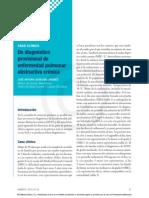 Caso Clínico EPOC. Un diagnóstico provisional de EPOC.