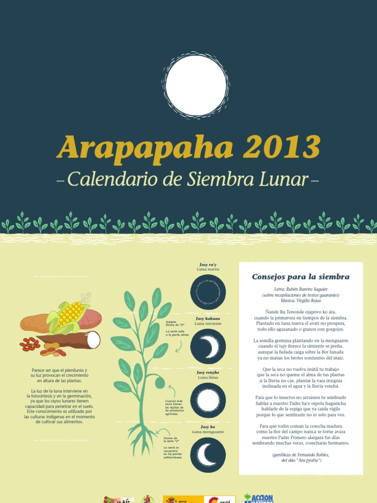Calendario Lunar De Siembra.Arapapaha 2013 Calendario Lunar De Siembra