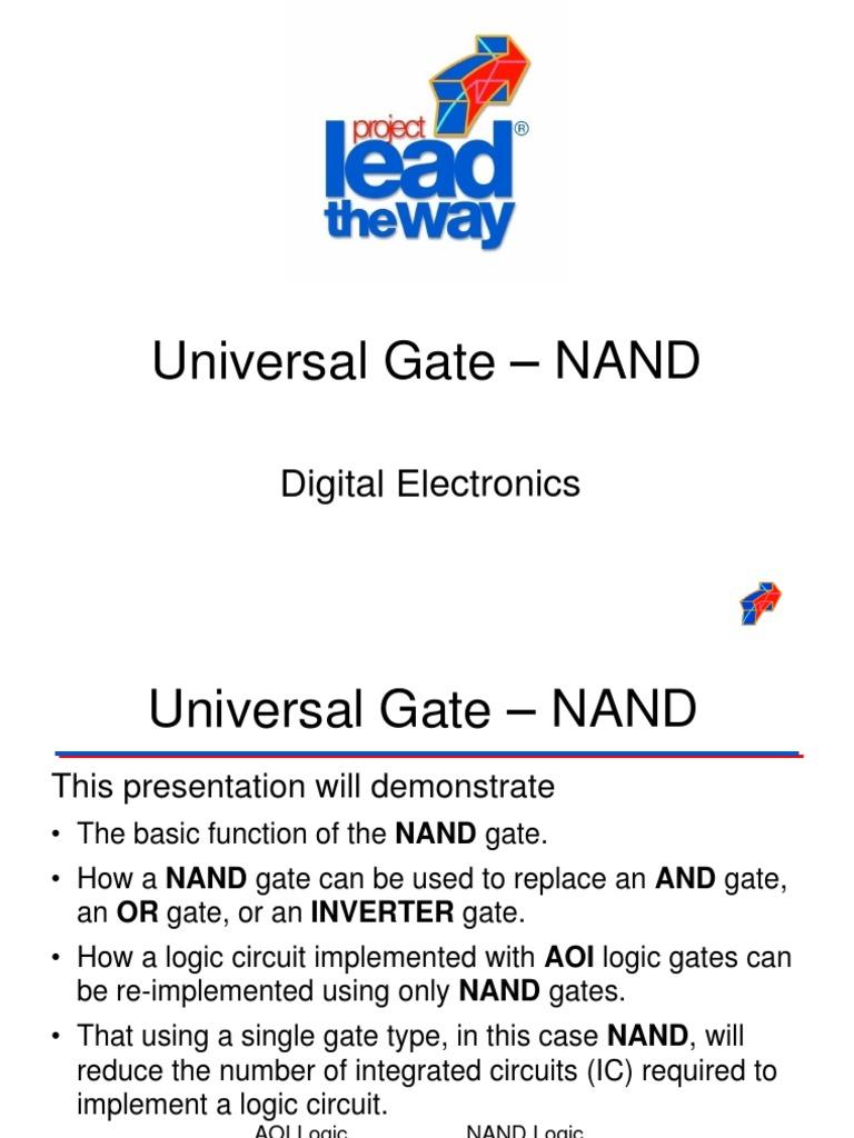 Universal Gates Nand Gate Circuits