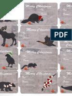 Canadian Animal labels printable- Christmas