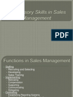 Supervisory Skills in Sales Management
