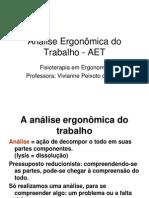 Análise Ergonômica do Trabalho - AET