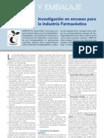 Article Investigacio en Envases Para La Industria Farmaceacuteutica