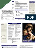 New Hope Worship Bulletin