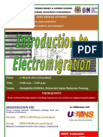 Introduction to Electromigration March 2013