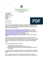 conflict of Interest letter to NHS NW London